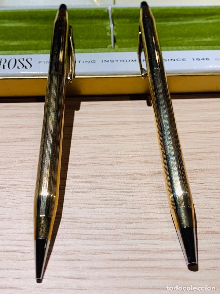 Estilográficas antiguas, bolígrafos y plumas: Set Ballpoint & Pencil CROSS GOLD Filled 10Kt. Classic Century, 4501. USA. Box, papers. '70s. - Foto 5 - 181542681