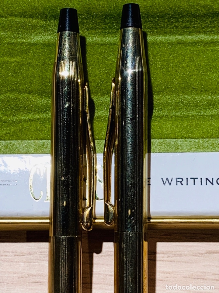 Estilográficas antiguas, bolígrafos y plumas: Set Ballpoint & Pencil CROSS GOLD Filled 10Kt. Classic Century, 4501. USA. Box, papers. '70s. - Foto 6 - 181542681