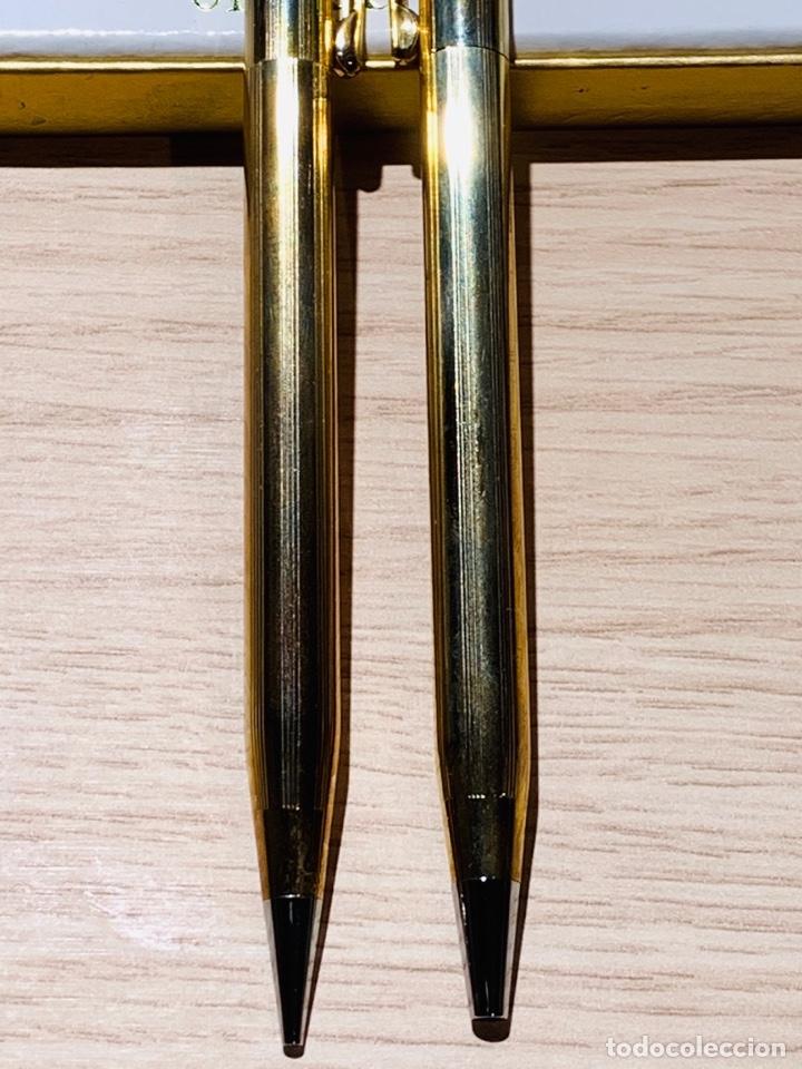 Estilográficas antiguas, bolígrafos y plumas: Set Ballpoint & Pencil CROSS GOLD Filled 10Kt. Classic Century, 4501. USA. Box, papers. '70s. - Foto 7 - 181542681