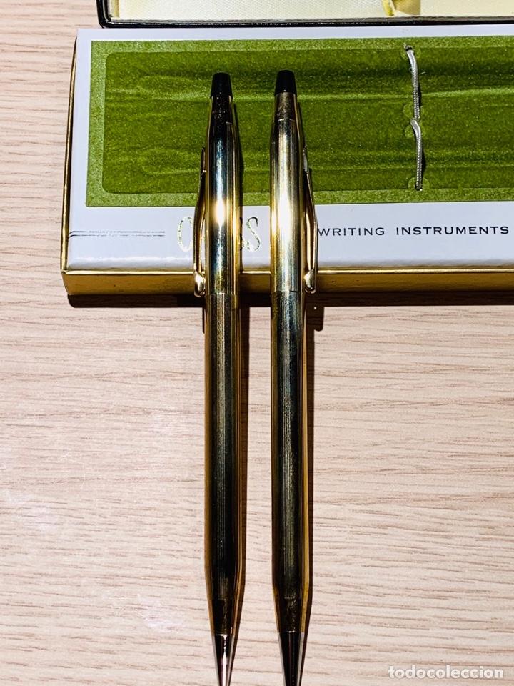 Estilográficas antiguas, bolígrafos y plumas: Set Ballpoint & Pencil CROSS GOLD Filled 10Kt. Classic Century, 4501. USA. Box, papers. '70s. - Foto 8 - 181542681