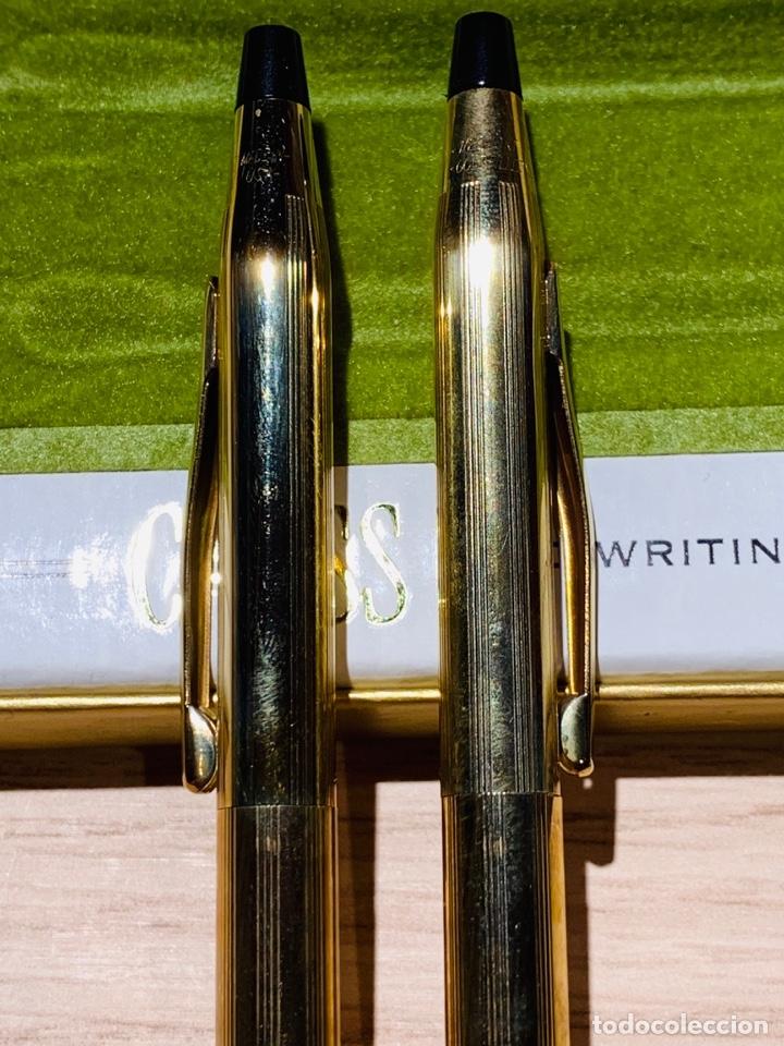 Estilográficas antiguas, bolígrafos y plumas: Set Ballpoint & Pencil CROSS GOLD Filled 10Kt. Classic Century, 4501. USA. Box, papers. '70s. - Foto 9 - 181542681