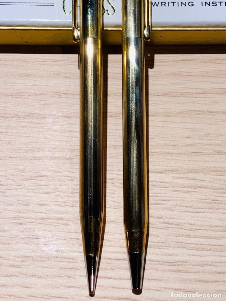 Estilográficas antiguas, bolígrafos y plumas: Set Ballpoint & Pencil CROSS GOLD Filled 10Kt. Classic Century, 4501. USA. Box, papers. '70s. - Foto 10 - 181542681