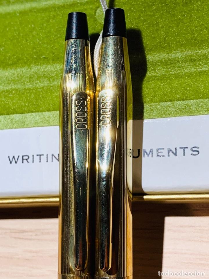 Estilográficas antiguas, bolígrafos y plumas: Set Ballpoint & Pencil CROSS GOLD Filled 10Kt. Classic Century, 4501. USA. Box, papers. '70s. - Foto 11 - 181542681