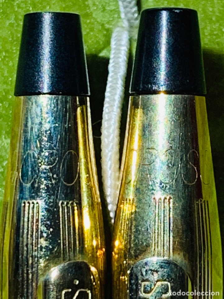 Estilográficas antiguas, bolígrafos y plumas: Set Ballpoint & Pencil CROSS GOLD Filled 10Kt. Classic Century, 4501. USA. Box, papers. '70s. - Foto 12 - 181542681