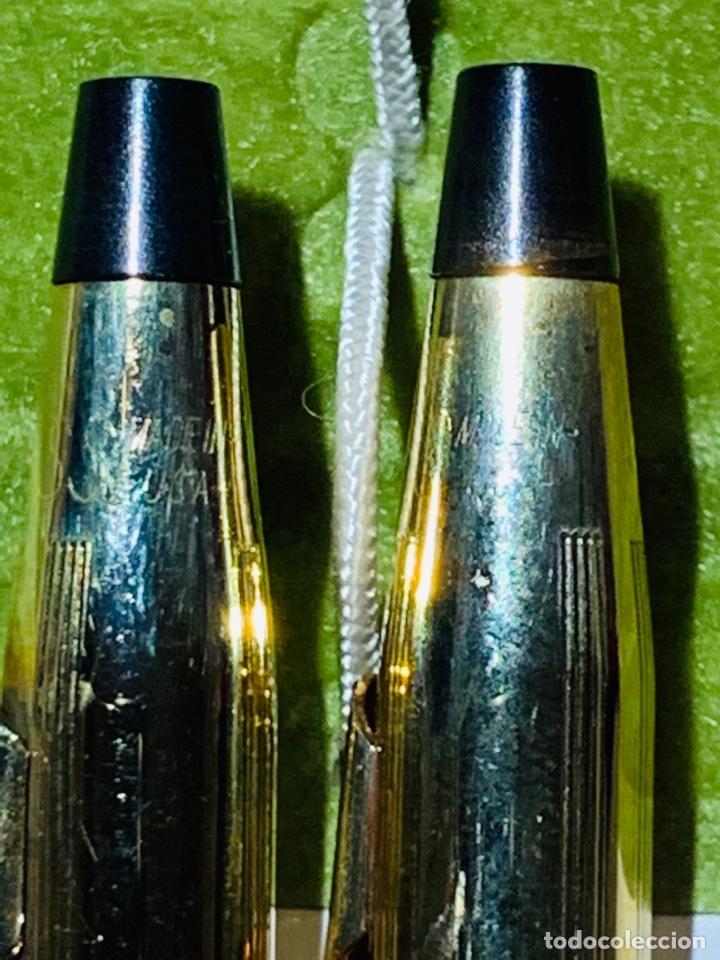 Estilográficas antiguas, bolígrafos y plumas: Set Ballpoint & Pencil CROSS GOLD Filled 10Kt. Classic Century, 4501. USA. Box, papers. '70s. - Foto 13 - 181542681