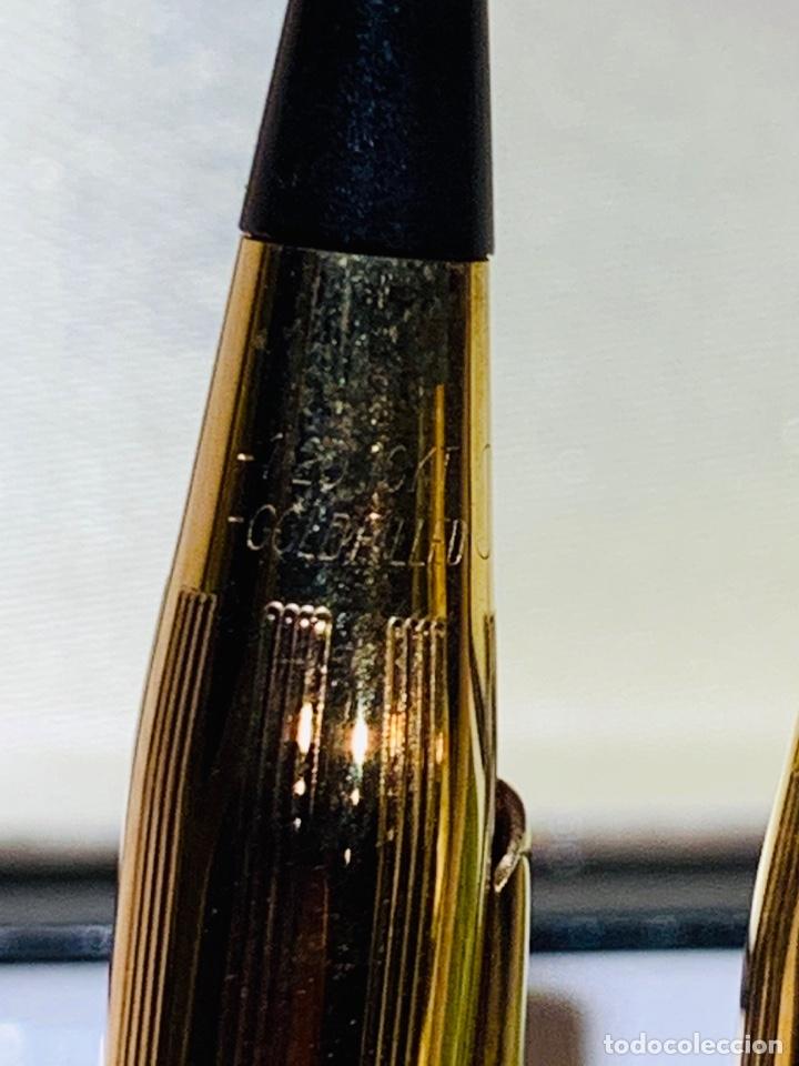 Estilográficas antiguas, bolígrafos y plumas: Set Ballpoint & Pencil CROSS GOLD Filled 10Kt. Classic Century, 4501. USA. Box, papers. '70s. - Foto 14 - 181542681