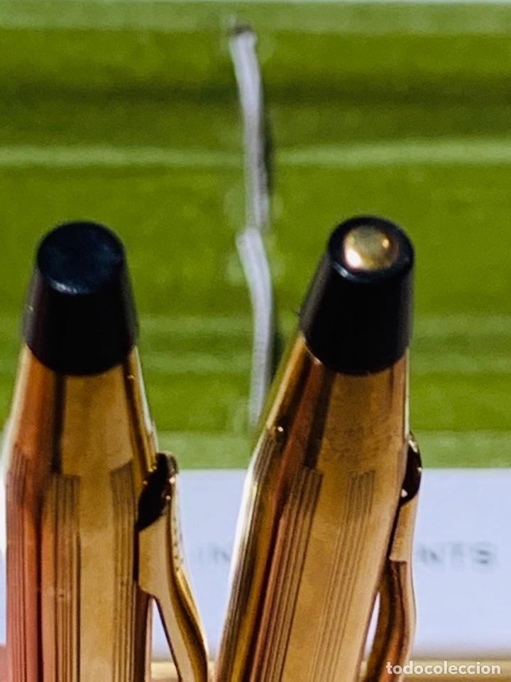 Estilográficas antiguas, bolígrafos y plumas: Set Ballpoint & Pencil CROSS GOLD Filled 10Kt. Classic Century, 4501. USA. Box, papers. '70s. - Foto 16 - 181542681