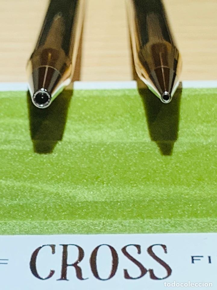 Estilográficas antiguas, bolígrafos y plumas: Set Ballpoint & Pencil CROSS GOLD Filled 10Kt. Classic Century, 4501. USA. Box, papers. '70s. - Foto 17 - 181542681