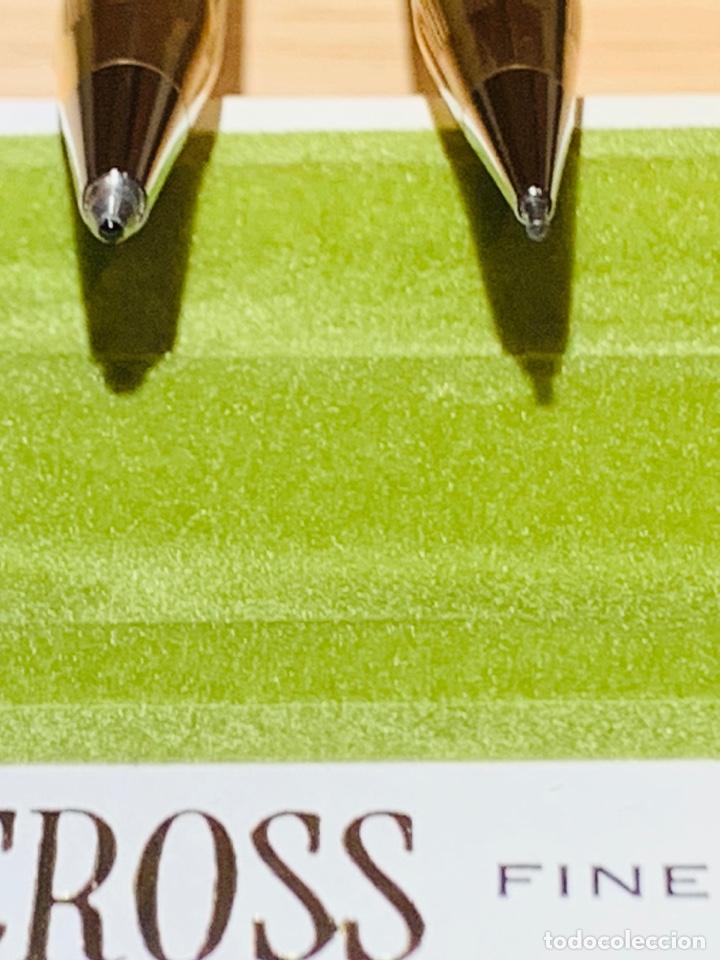 Estilográficas antiguas, bolígrafos y plumas: Set Ballpoint & Pencil CROSS GOLD Filled 10Kt. Classic Century, 4501. USA. Box, papers. '70s. - Foto 18 - 181542681