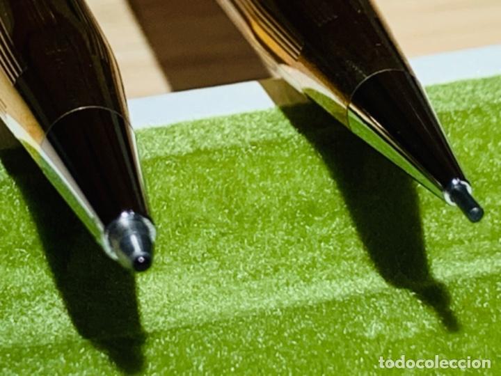 Estilográficas antiguas, bolígrafos y plumas: Set Ballpoint & Pencil CROSS GOLD Filled 10Kt. Classic Century, 4501. USA. Box, papers. '70s. - Foto 19 - 181542681