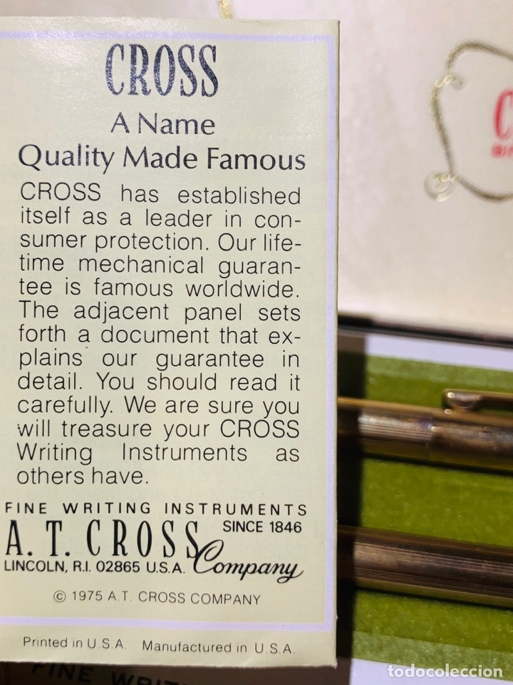 Estilográficas antiguas, bolígrafos y plumas: Set Ballpoint & Pencil CROSS GOLD Filled 10Kt. Classic Century, 4501. USA. Box, papers. '70s. - Foto 22 - 181542681