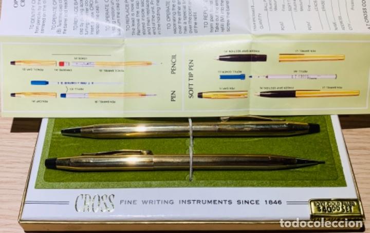 Estilográficas antiguas, bolígrafos y plumas: Set Ballpoint & Pencil CROSS GOLD Filled 10Kt. Classic Century, 4501. USA. Box, papers. '70s. - Foto 24 - 181542681