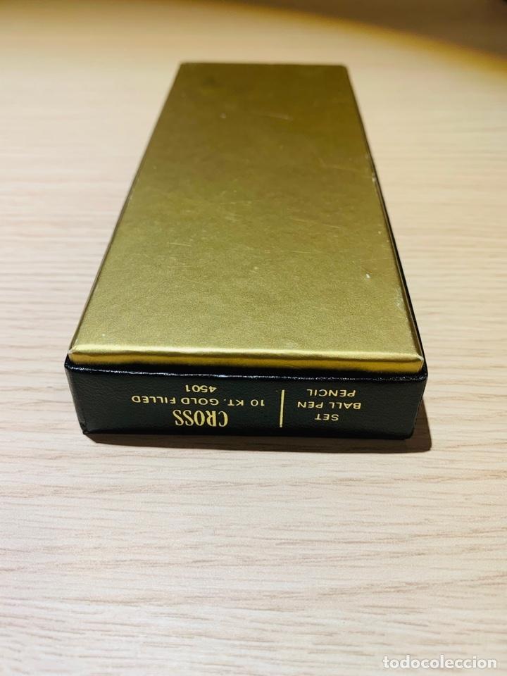 Estilográficas antiguas, bolígrafos y plumas: Set Ballpoint & Pencil CROSS GOLD Filled 10Kt. Classic Century, 4501. USA. Box, papers. '70s. - Foto 29 - 181542681