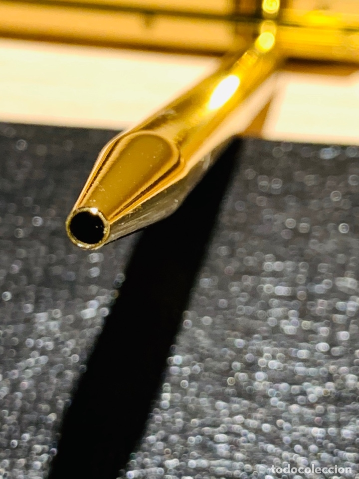 Estilográficas antiguas, bolígrafos y plumas: SHEAFFER TARGA 1020 IMPERIAL Full SET. Fountain pen Gold nib, ballpoint. USA. Luxe box. '80s. Mint. - Foto 20 - 181802110