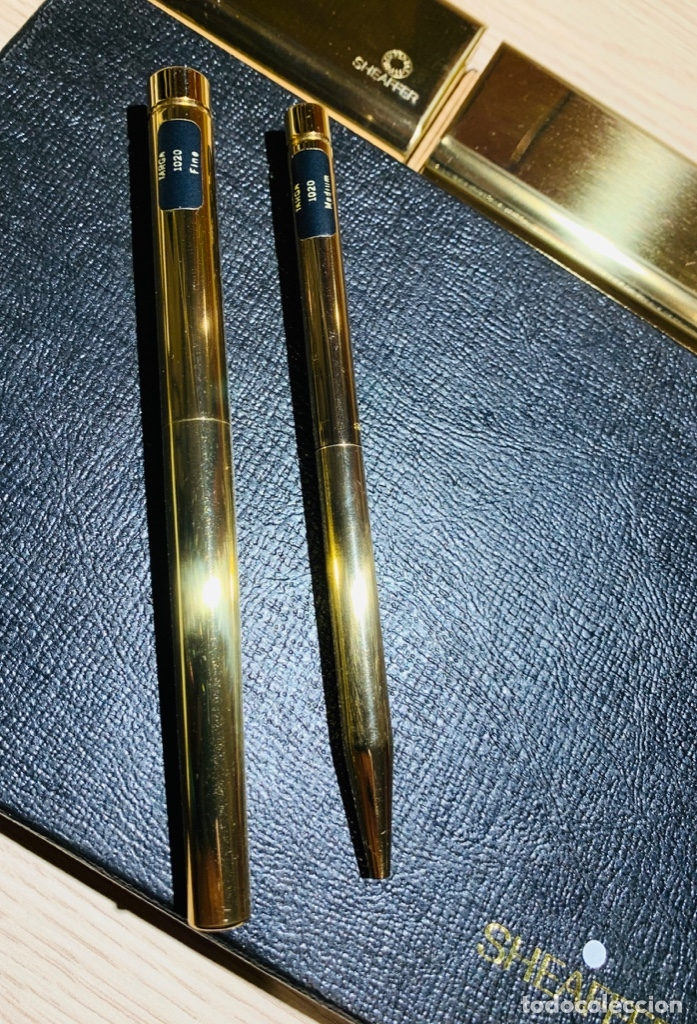 Estilográficas antiguas, bolígrafos y plumas: SHEAFFER TARGA 1020 IMPERIAL Full SET. Fountain pen Gold nib, ballpoint. USA. Luxe box. '80s. Mint. - Foto 27 - 181802110