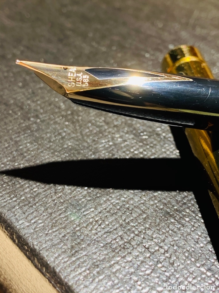 Estilográficas antiguas, bolígrafos y plumas: SHEAFFER TARGA 1020 IMPERIAL Full SET. Fountain pen Gold nib, ballpoint. USA. Luxe box. '80s. Mint. - Foto 31 - 181802110