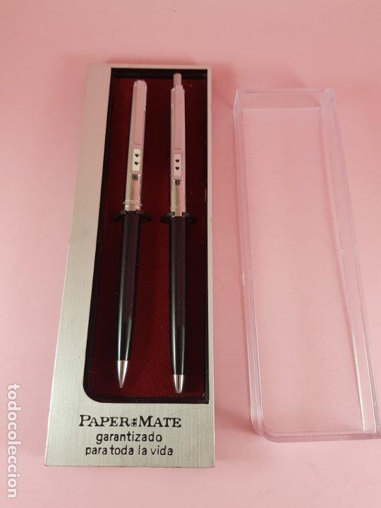 Estilográficas antiguas, bolígrafos y plumas: *(5985)-juego-bolígrafo+portaminas-paper mate profile-negro+cromo-nos-cajas-ver fotos- - Foto 11 - 84883456