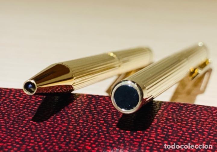 Estilográficas antiguas, bolígrafos y plumas: Set SHEAFFER TARGA 1005s 23k Gold Plated. Fountain Pen & BallPoint. Deluxe box. Early '80s. - Foto 6 - 182051680