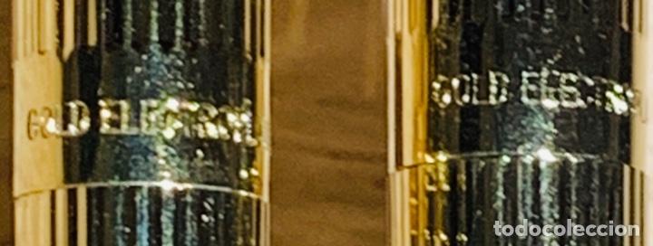 Estilográficas antiguas, bolígrafos y plumas: Set SHEAFFER TARGA 1005s 23k Gold Plated. Fountain Pen & BallPoint. Deluxe box. Early '80s. - Foto 8 - 182051680