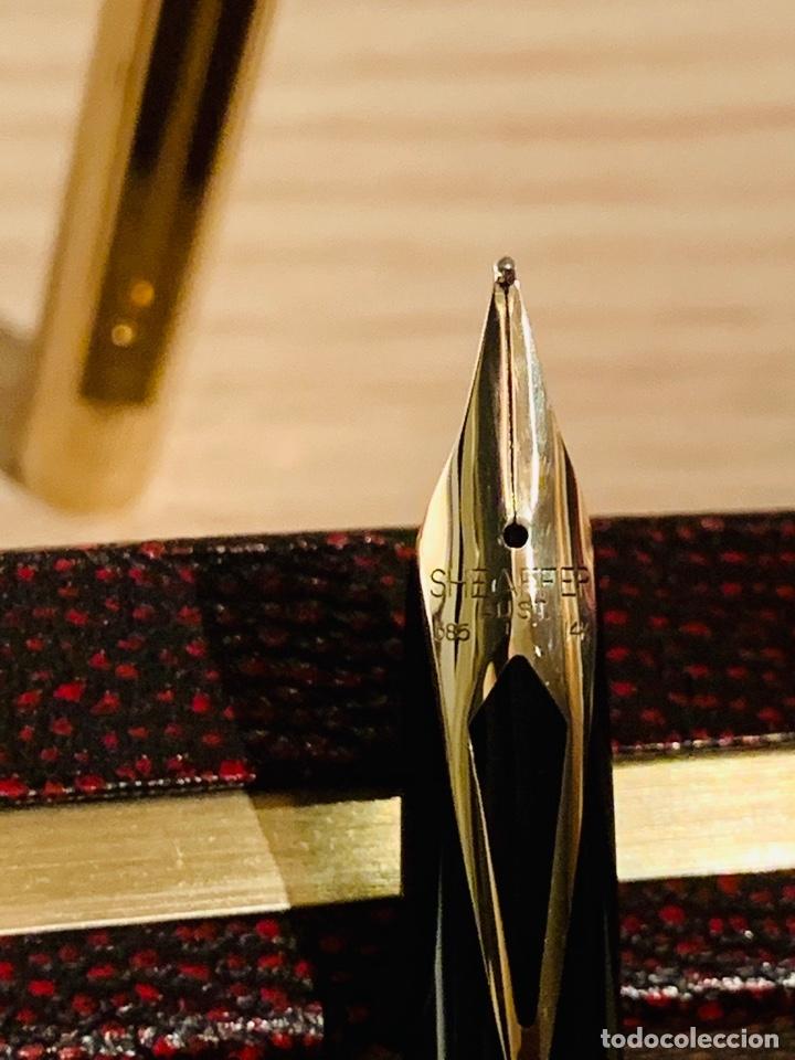 Estilográficas antiguas, bolígrafos y plumas: Set SHEAFFER TARGA 1005s 23k Gold Plated. Fountain Pen & BallPoint. Deluxe box. Early '80s. - Foto 13 - 182051680