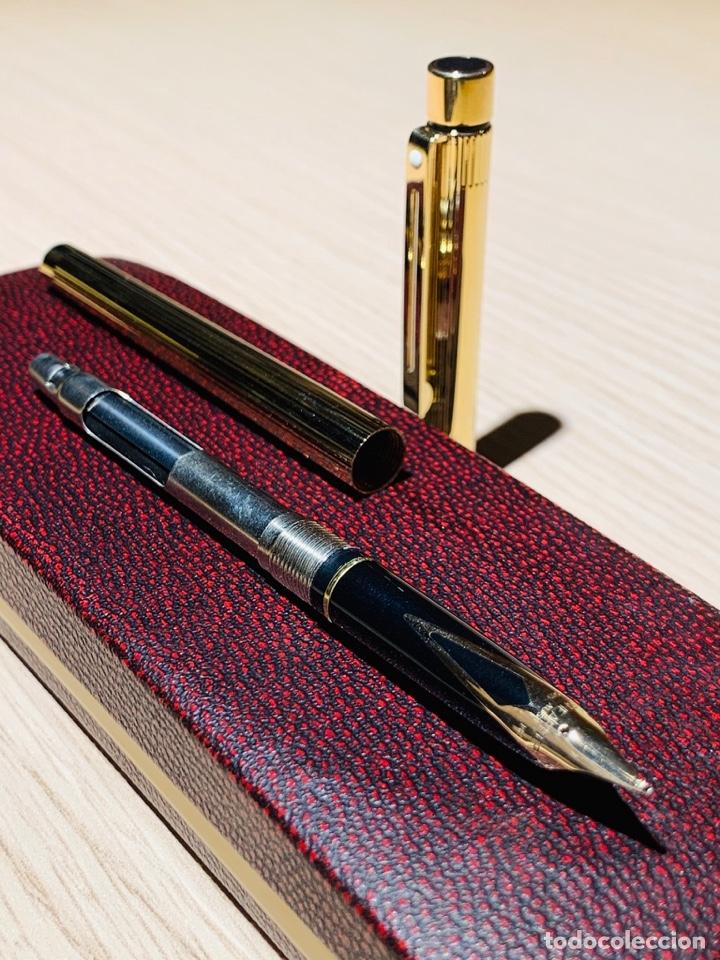 Estilográficas antiguas, bolígrafos y plumas: Set SHEAFFER TARGA 1005s 23k Gold Plated. Fountain Pen & BallPoint. Deluxe box. Early '80s. - Foto 22 - 182051680