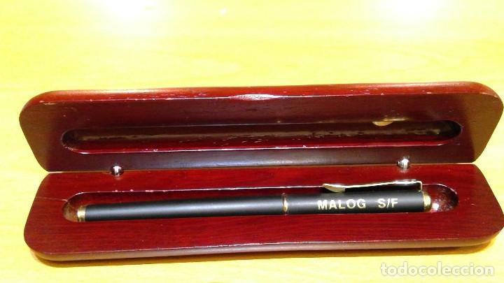 Estilográficas antiguas, bolígrafos y plumas: Estuche con pluma MALOG - Foto 2 - 182129866
