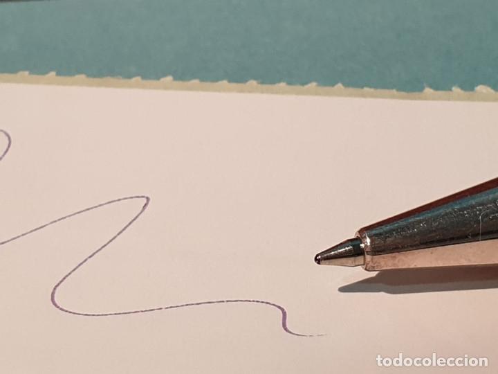 Estilográficas antiguas, bolígrafos y plumas: Set escritorio - LABAN - Madera y plata - Caja: Pluma + Bolígrafo + Tintero cristal - Foto 8 - 182293343