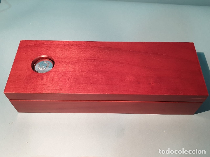 Estilográficas antiguas, bolígrafos y plumas: Set escritorio - LABAN - Madera y plata - Caja: Pluma + Bolígrafo + Tintero cristal - Foto 11 - 182293343