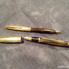 Estilográficas antiguas, bolígrafos y plumas: SHEAFFER PLUMA Y PORTAMINAS. Lote 182375845