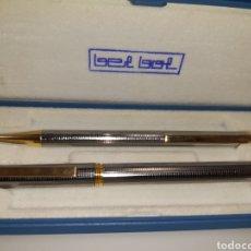 Estilográficas antiguas, bolígrafos y plumas: JUEGO DE BOLÍGRAFO Y PLUMA BEL BOL. Lote 182506891