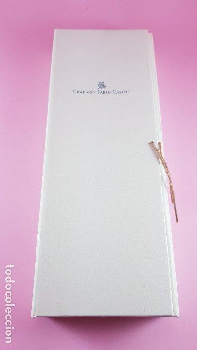 Estilográficas antiguas, bolígrafos y plumas: 10146/juego-bolígrafo+portaminas-graf von faber castell-germany-negro+plata-nuevo-sacos-etiqueta-caj - Foto 9 - 117432719