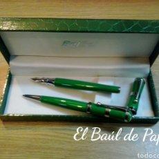 Estilográficas antiguas, bolígrafos y plumas: CONJUNTO BOLÍGRAFO Y PLUMA. NUEVOS. BELBOL. Lote 182735057