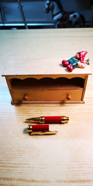 Estilográficas antiguas, bolígrafos y plumas: Factis bolígrafo con estuche armario de madera - Foto 4 - 182841447