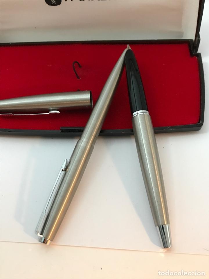 Estilográficas antiguas, bolígrafos y plumas: Pluma estilográfica y bolígrafo parker como nuevo - Foto 3 - 182926355