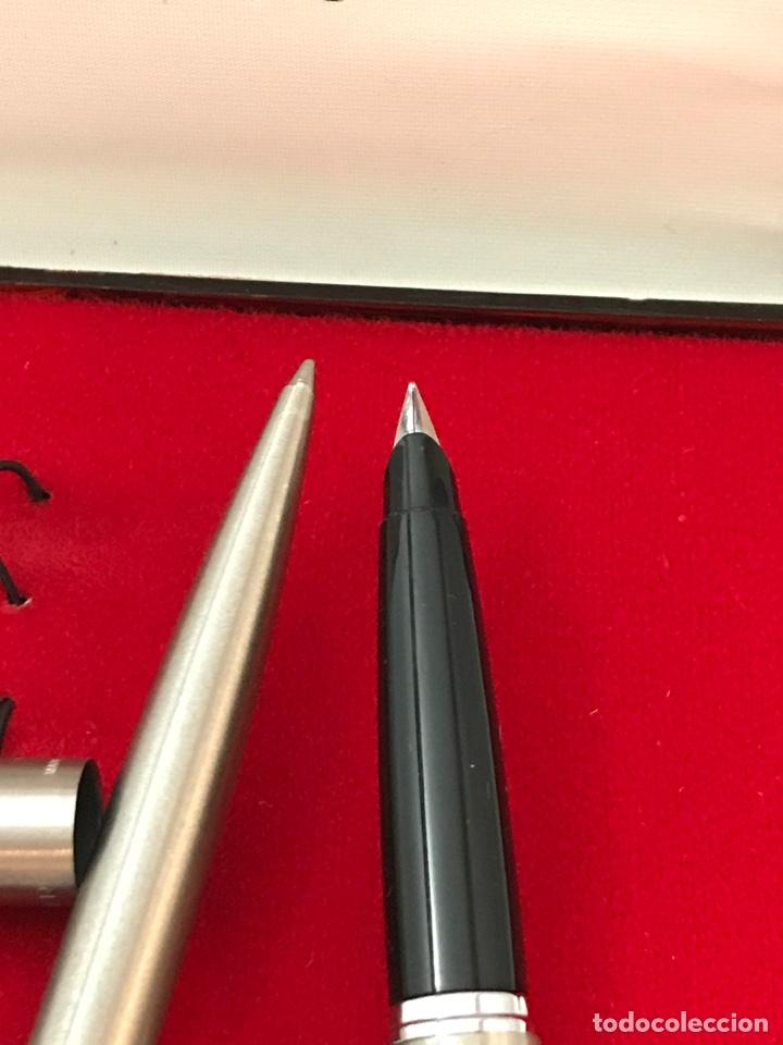 Estilográficas antiguas, bolígrafos y plumas: Pluma estilográfica y bolígrafo parker como nuevo - Foto 4 - 182926355