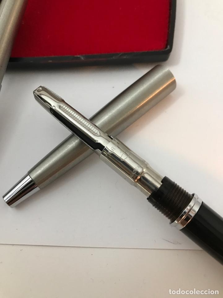 Estilográficas antiguas, bolígrafos y plumas: Pluma estilográfica y bolígrafo parker como nuevo - Foto 5 - 182926355