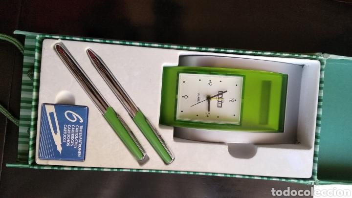 Estilográficas antiguas, bolígrafos y plumas: Lote de pluma,, bolígrafo marca BELBOL,con caja de 6 cartuchos de tinta,,reloj,,,,calculadora (no fu - Foto 10 - 183301253