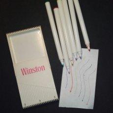 Estilográficas antiguas, bolígrafos y plumas: ROTULADORES VINTAGE WINSTON AÑOS 90. Lote 183320455