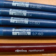 Estilográficas antiguas, bolígrafos y plumas: STAEDTLER MARSMATIC700 0,25 0,4 0,5 Y 07 ROTRING RADIOGRAPH 0,30. Lote 183718927