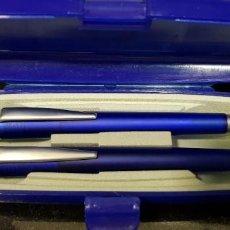 Estilográficas antiguas, bolígrafos y plumas: 321-BOLÍGRAFO Y PORTAMINAS CON ESTUCHE. Lote 183745581