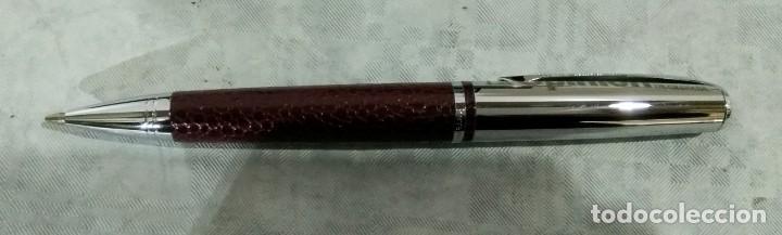 Estilográficas antiguas, bolígrafos y plumas: JUEGO ESTILOGRAFICA BOLIGRAFO Y PORTAMINAS PIERRE DELON - Foto 11 - 183800461