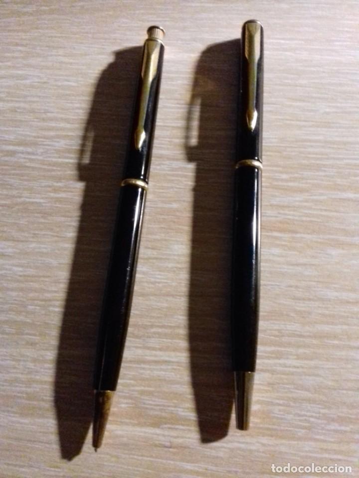 Estilográficas antiguas, bolígrafos y plumas: CONJUNTO BOLIGRAFO Y LAPIZ PORTAMINAS PARKER - Foto 2 - 182038266