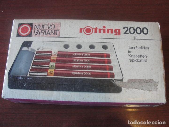 Estilográficas antiguas, bolígrafos y plumas: caja por estrenar 4 ROTRING 2000 NUEVO VARIANT - STOCK PAPELERIA / ENVIO GRATIS - Foto 2 - 183917706
