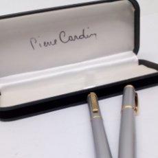 Estilográficas antiguas, bolígrafos y plumas: JUEGO PIERRE CARDIN DE BOLIGRAFO Y PLUMA. Lote 184090770