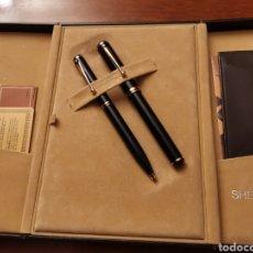 Estilográficas antiguas, bolígrafos y plumas: JUEGO DE PLUMA Y BOLÍGRAFO SHEAFFER CONNESEUR. PLUMIN 18 K. Lote 132321226