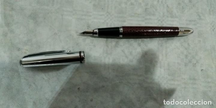 Estilográficas antiguas, bolígrafos y plumas: JUEGO ESTILOGRAFICA BOLIGRAFO Y PORTAMINAS PIERRE DELON - Foto 5 - 184475203
