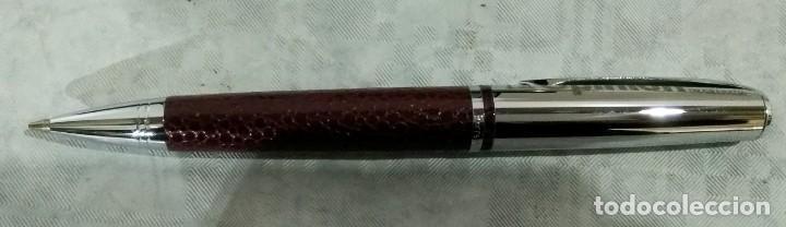 Estilográficas antiguas, bolígrafos y plumas: JUEGO ESTILOGRAFICA BOLIGRAFO Y PORTAMINAS PIERRE DELON - Foto 10 - 184475203