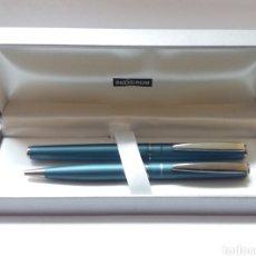 Estilográficas antiguas, bolígrafos y plumas: JUEGO INOXCROM IRIDIUM. Lote 185230597