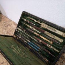 Estilográficas antiguas, bolígrafos y plumas: ANTIGUO JUEGO DE COMPÁS SIGLO XIX. Lote 185908492