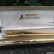 Estilográficas antiguas, bolígrafos y plumas: 2 JUEGOS DE BOLÍGRAFO Y PORTA MINAS. Lote 186071556